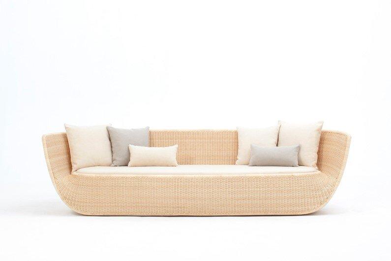 Rattan sofa by Japanese designer Hiroomi Tahara