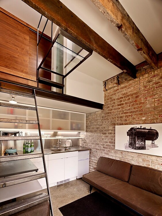 full-service guest apartment - old laundry transformed by architect Christi Azevedo