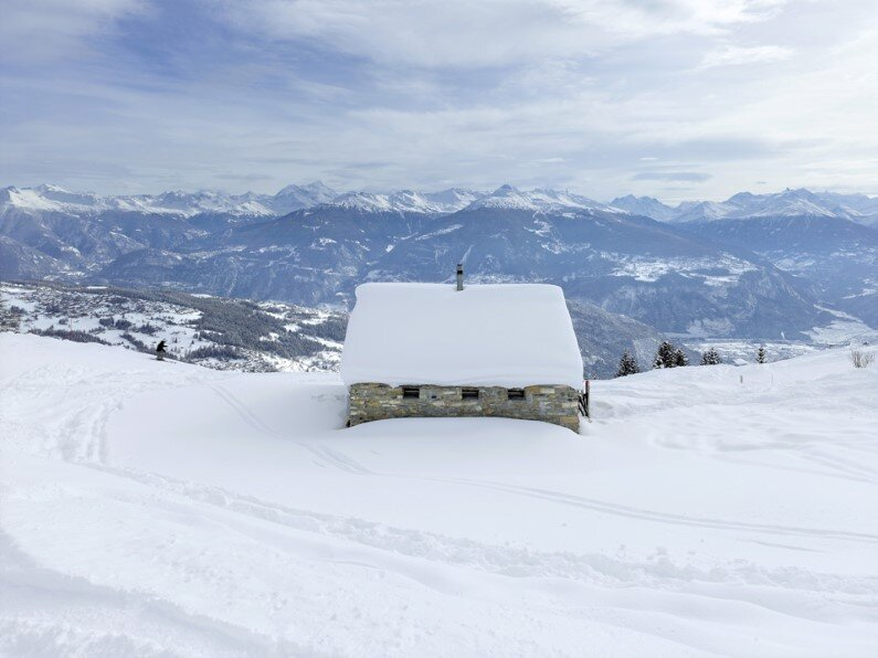 small cottage located near Anzere, in Switzerland