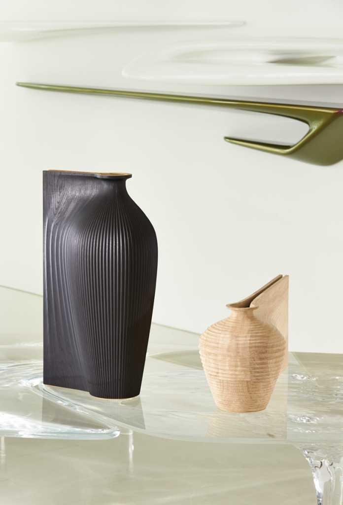 zaha-hadid-gareth-neal- wood vases