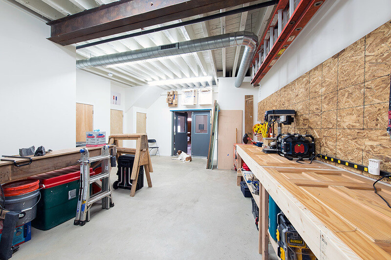 1880's warehouse turned live-work studio, Philadelphia, by Bright Common