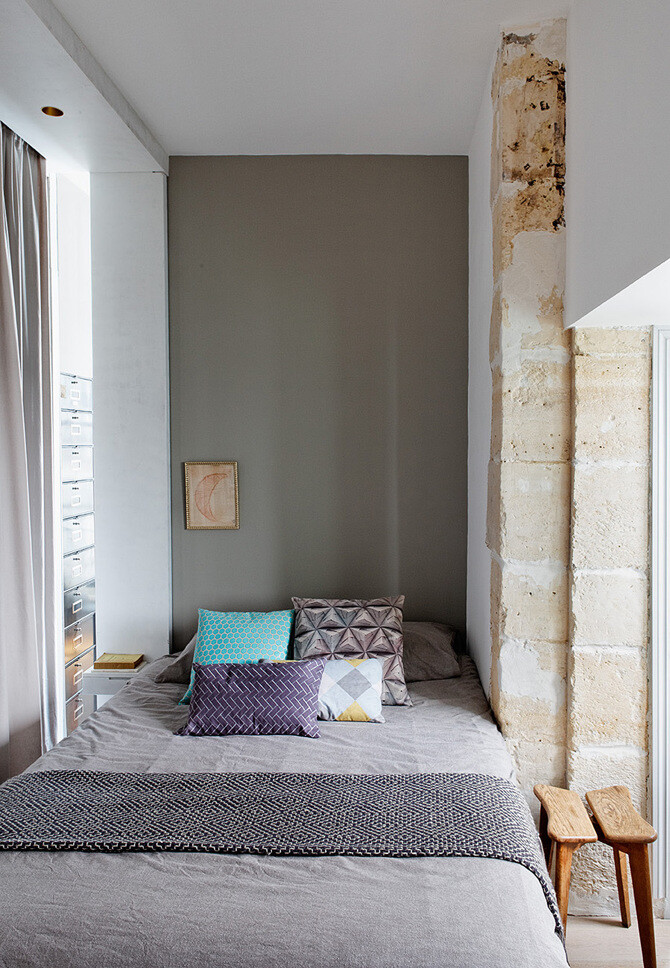40sq.m dwelling in Paris - designed by designer Charlotte Vauvillier