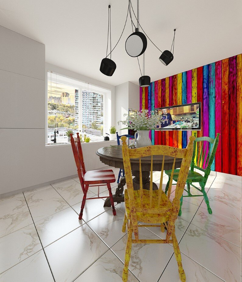Apartment in Moscow - bright design, freshness and playful colors (12)
