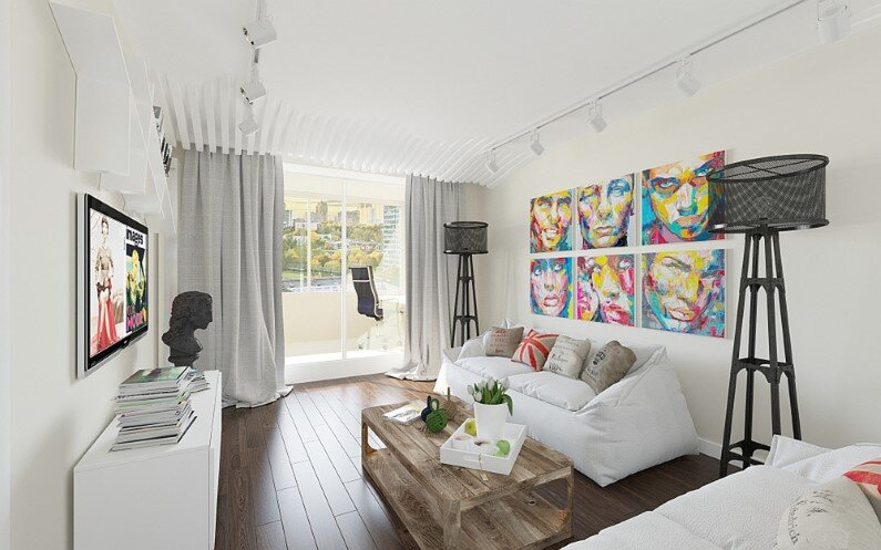 Apartment in Moscow - bright design, freshness and playful colors - Russian designer and architect Tatiana Zhivolupova