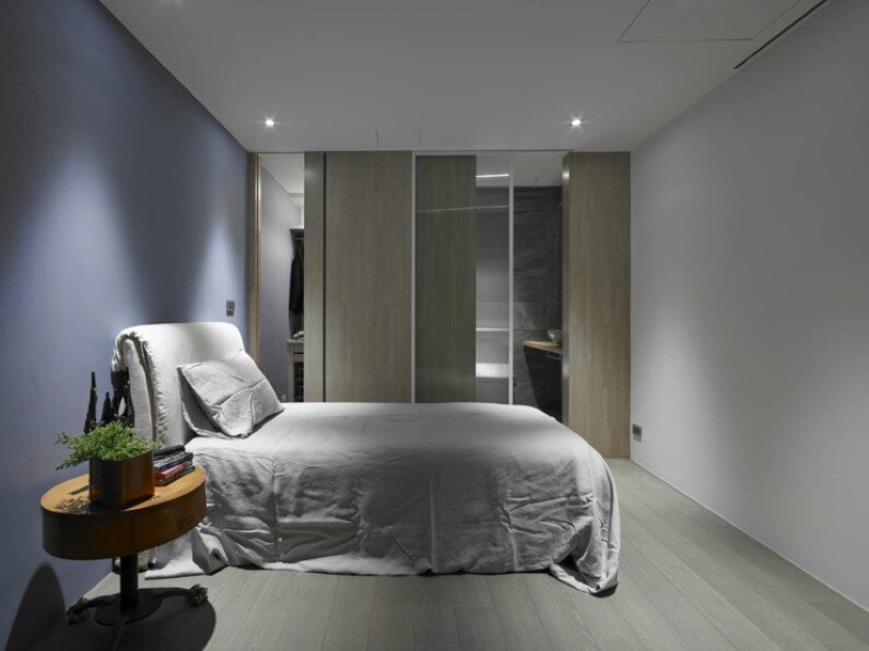Bedroom - apartment Taipei - combination of elegance and industrial design