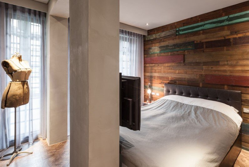 Bedroom design by Chi-Torch - interior design based on industrial and vintage style