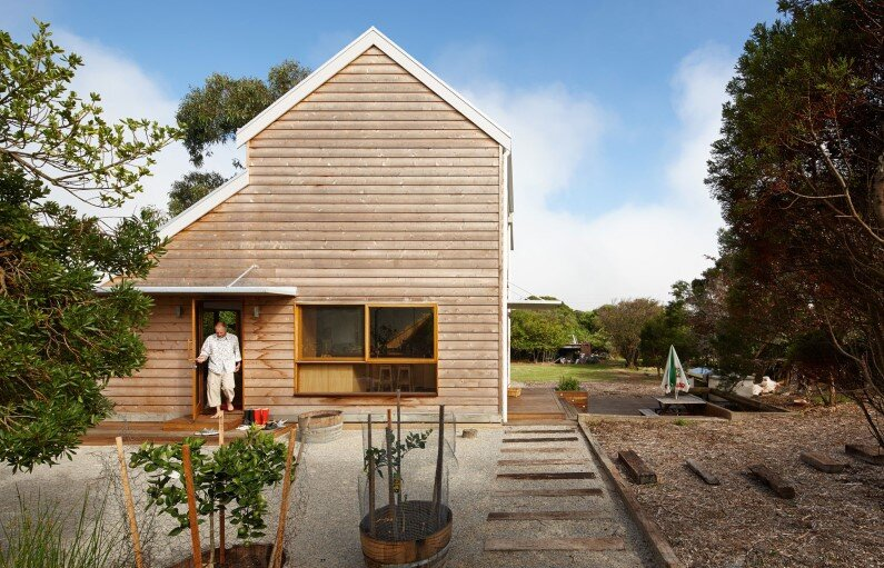 Chicory kiln converted into a cozy family home by Andrew Simpson Architects and Charles Anderson, Australia