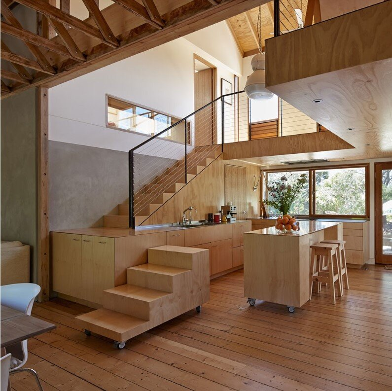 Chicory kiln converted into a family beach home by Andrew Simpson Architects and Charles Anderson , Australia