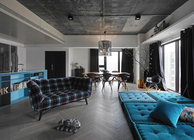 Elegant apartment - combination of elegance and industrial design by Ganna Design