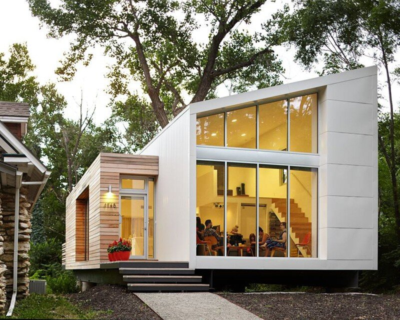 Madison house modern minimal and sustainable home for Create modern home decor kansas city