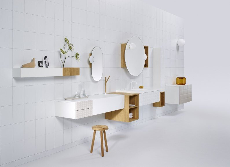 Modular cabinet system for bathroom - by Jean-François D'Or with the collaboration of Frédérique Ficheroulle and the Vika team