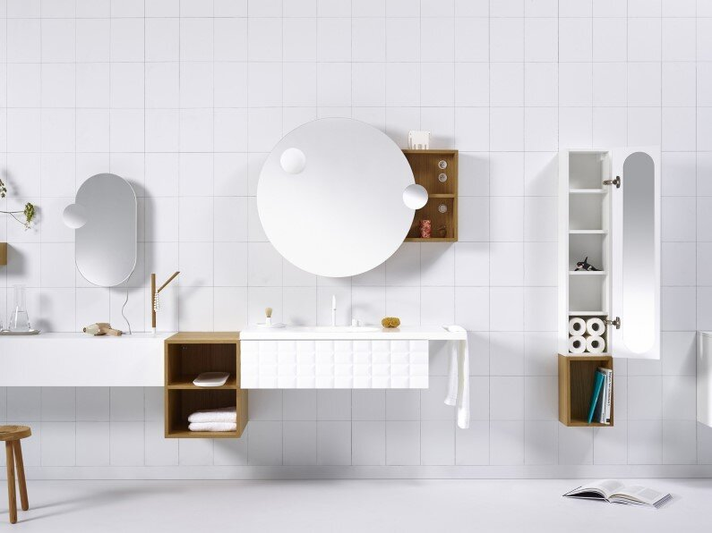 Modular system for bathroom space