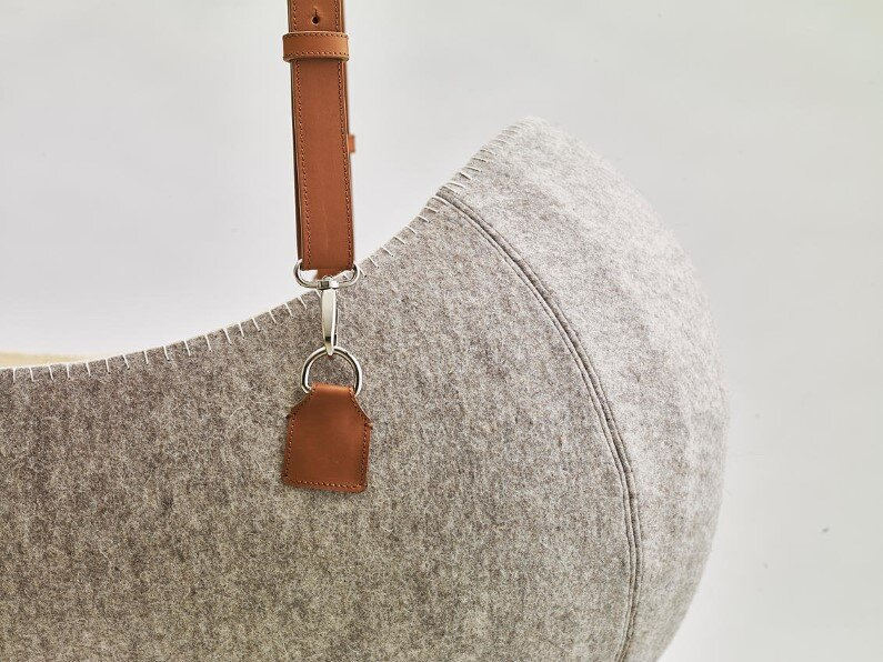 O - bjekt design studio - Little Nest the felt cradle