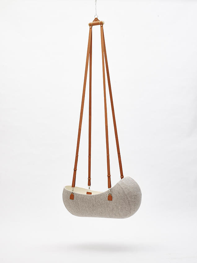 "Oszkar Vagi Designs The ""Little Nest"" Felt Cradle"