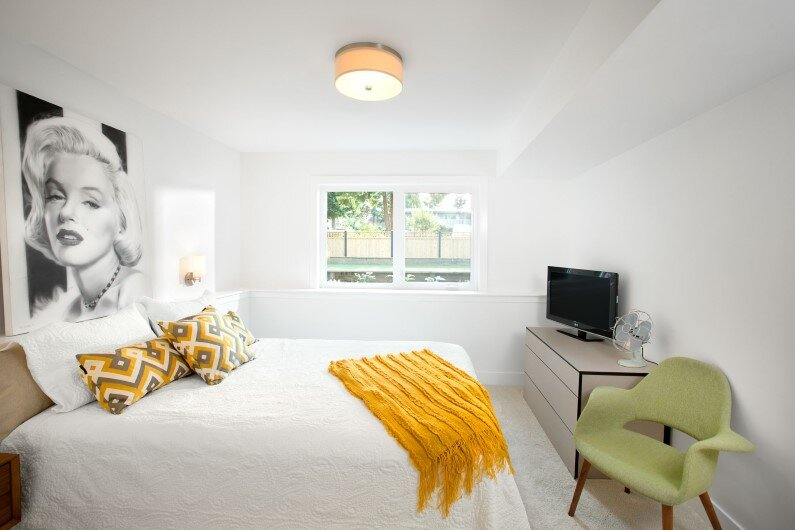 Retro Revival House designed by Sarah Gallop Design - bedroom