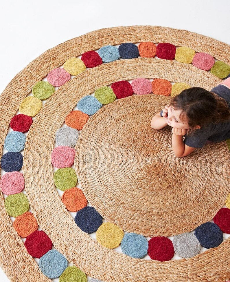 Rugs made from natural fibers