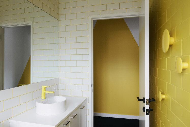 St Kilda Gable End Home by MRTN Architects - bathroom