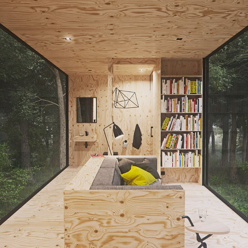 Wood Cabin with minimal impact on the environment