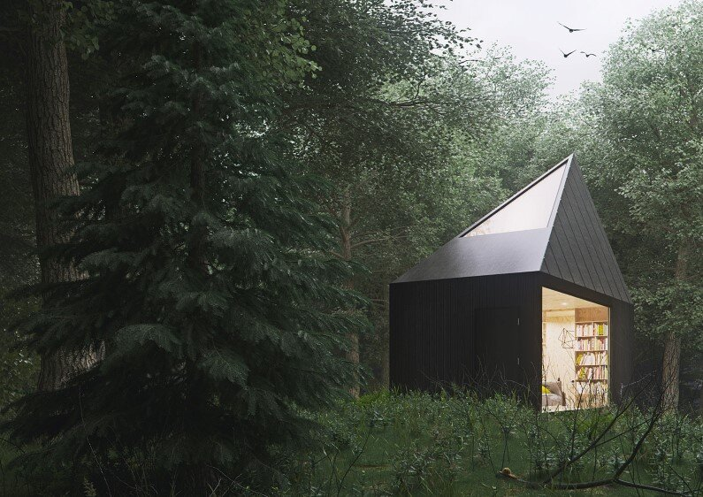 Wood Retreat - architectural project realized by Polish designer Tomek Michalski