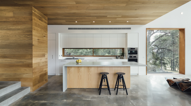 Wood brings warmth and naturalness Invermay House