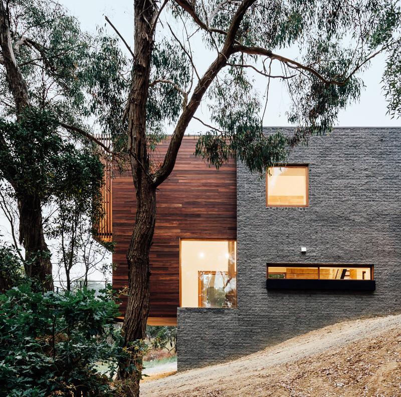 Wooden facade -Invermay House, Ballarat, Australia