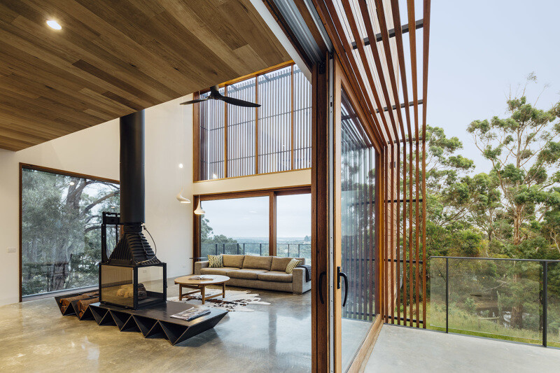 Wooden facade brings warmth and naturalness