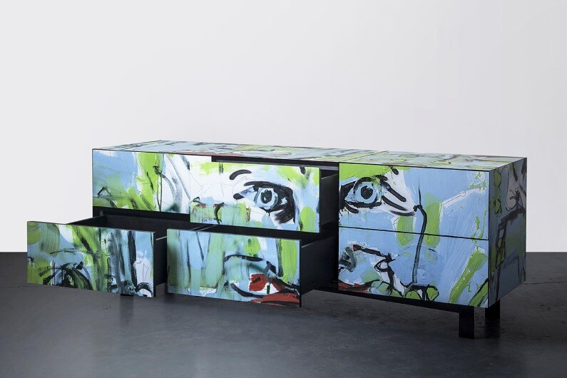 dresser - combination of street art and furniture design