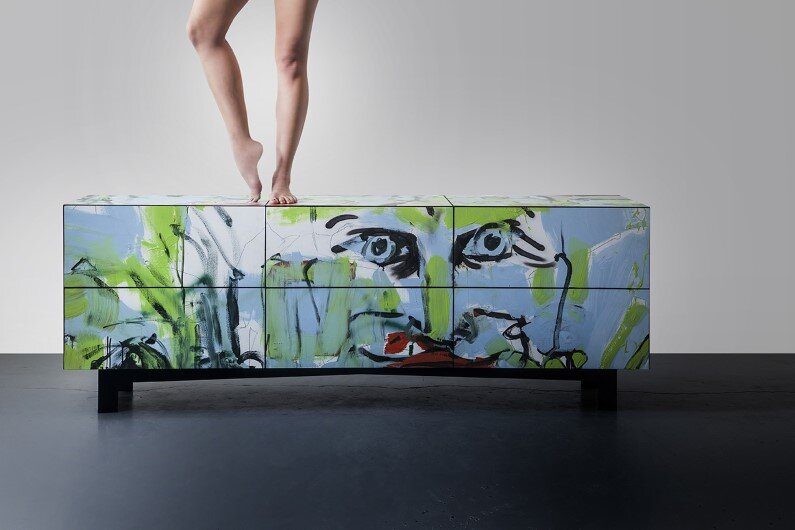 dresser -  unique combination of street art and furniture design- BY ARIEL ZUCKERMAN STUDIO