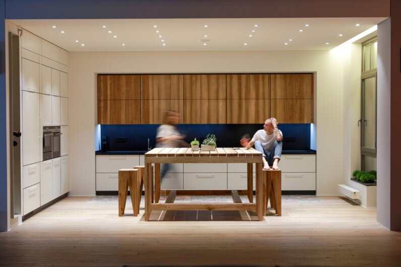 minimalist style apartment, 2b Group, Kiev