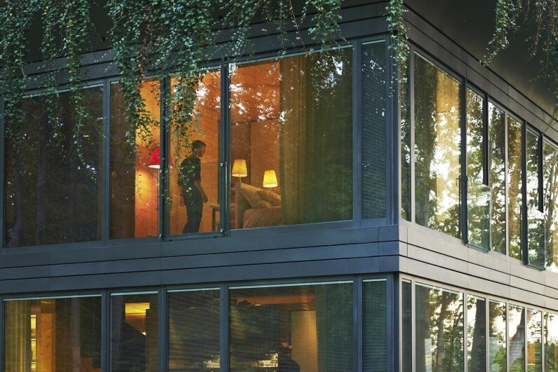 prefabricated home with high eco-technology systems