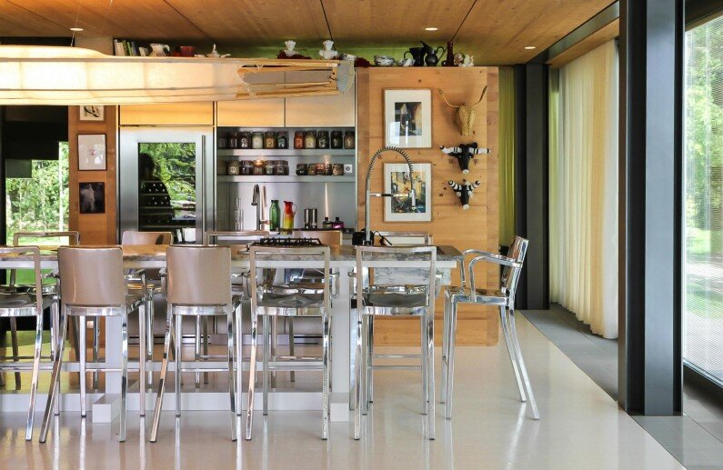 prefabricated house with high eco-technology systems - kitchen