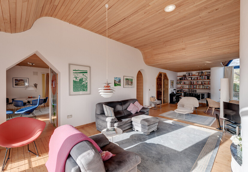 stylish interior, with wood