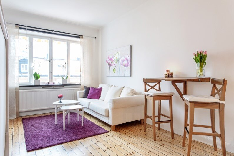 28 sqm studio in Stockholm with fresh interior design  (4)