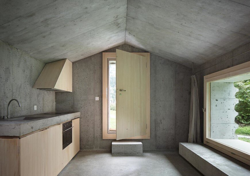 Refugi Lieptgas Fascinating Concrete Cabin In The Swiss Alps