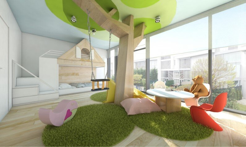 Kids room designed by Rules Architects with low budget (1)