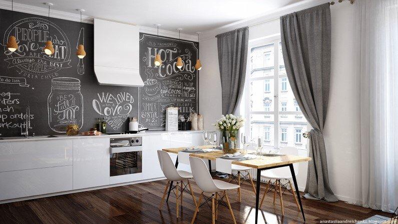 Monochromatic interior design by Anastasia Andreichenko  (1)