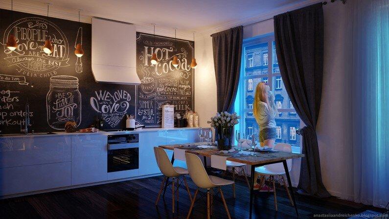 Monochromatic interior design by Anastasia Andreichenko  (3) - A designer of Russia has made these gorgeous interior