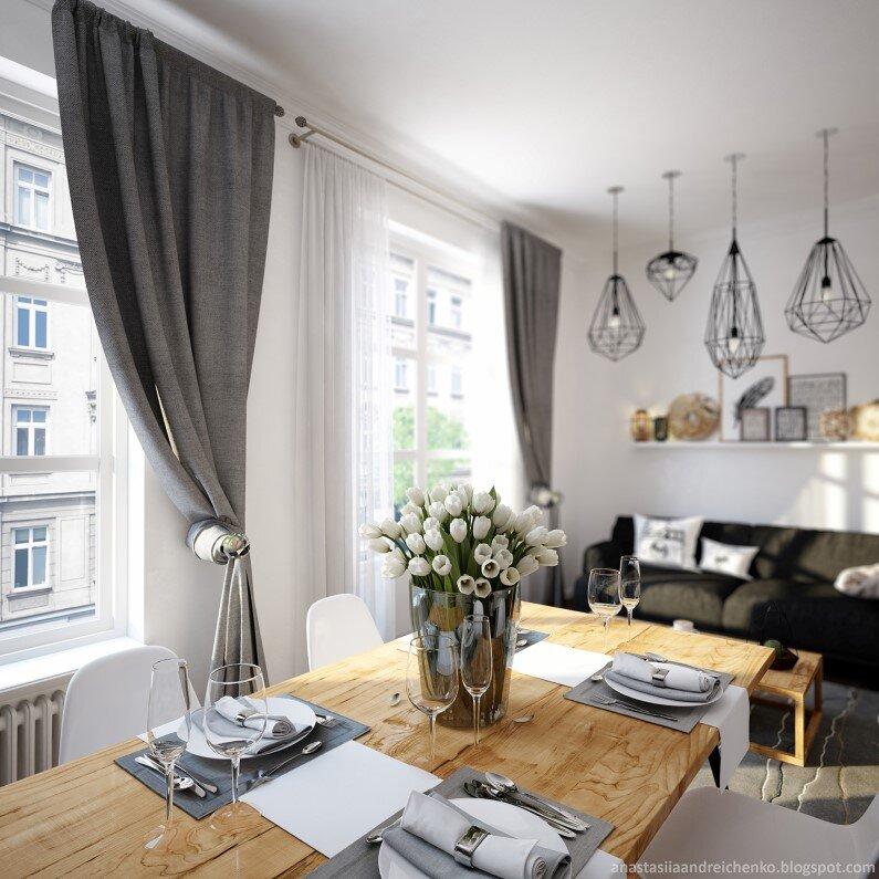 Monochromatic interior design by Anastasia Andreichenko  (5)