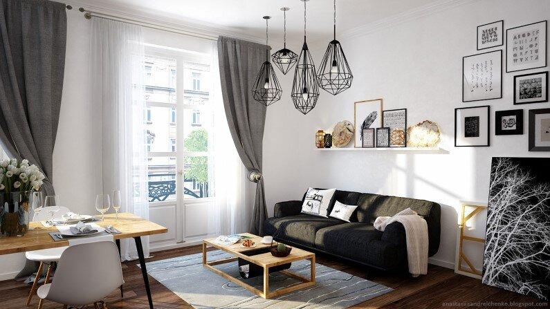 Monochromatic interior design by Anastasia Andreichenko  (6)
