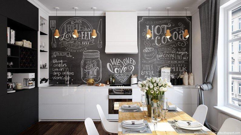 Monochrome design interior by Anastasia Andreichenko (1)