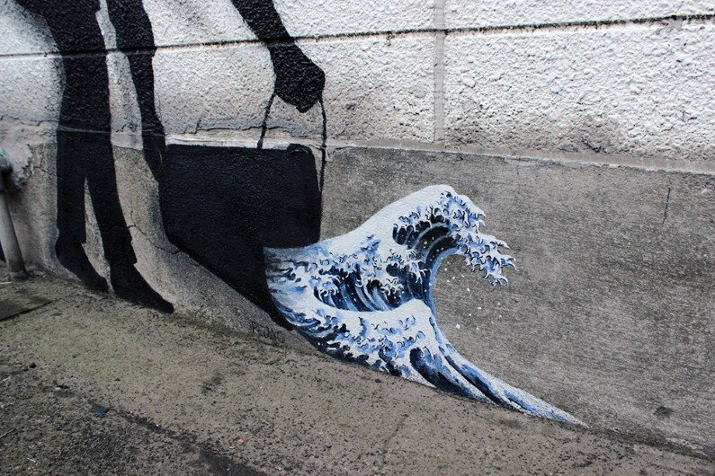 New Paintings by Spanish street artist Pejac Tokyo, Seoul and Hong Kong (2)