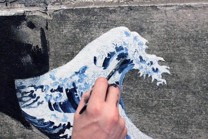 New Paintings by Spanish street artist Pejac Tokyo, Seoul and Hong Kong (3)