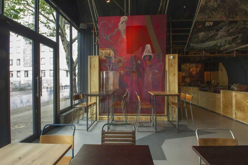 Topolski Bar celebrates the art of Feliks Topolski by B3 Designers (2)