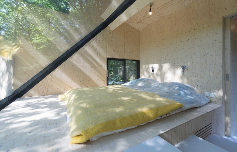 Transformation Forest House sustainable, compact and sculptural rooftop extension (5)