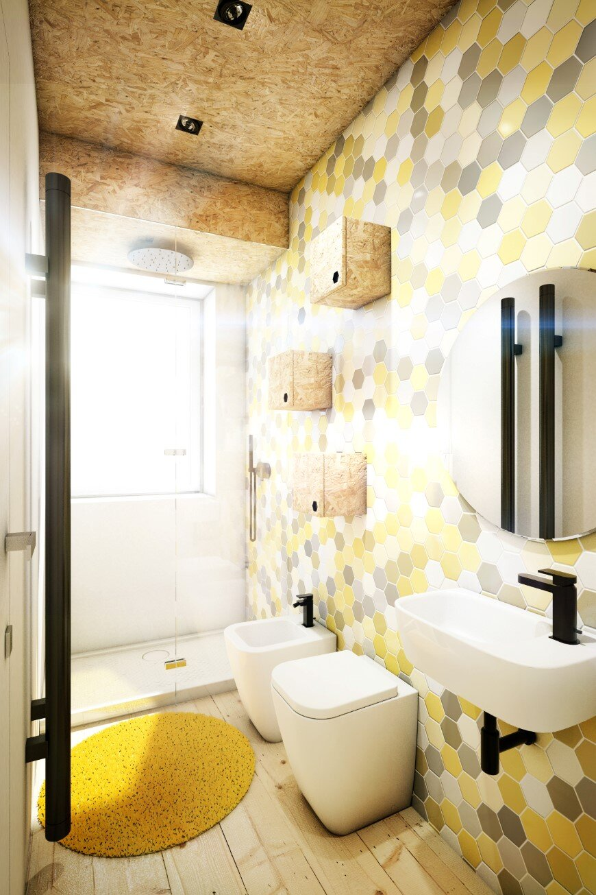 Yellow Touch Apartment 25 sqm yellow-black contrast in Rome (5)