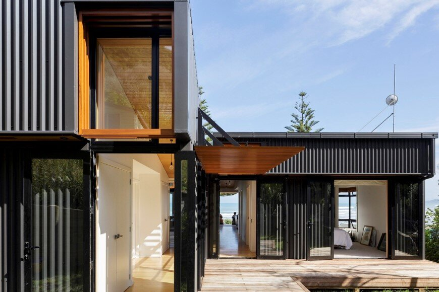 offSET Shed House is a beach house with a large opening to the sea (1)