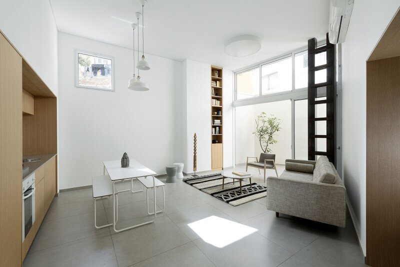 50 sqm Garden Apartment in Jaffa – Itai Palti Studio