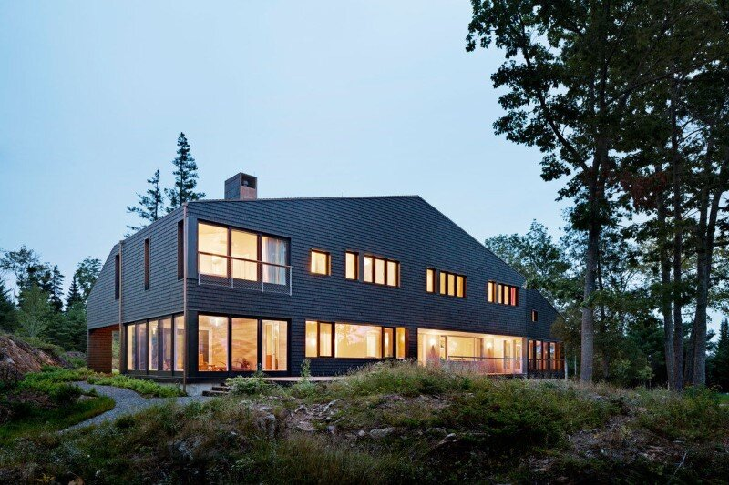 A house, boathouse, and studio structure by Andrew Berman Architect (4)