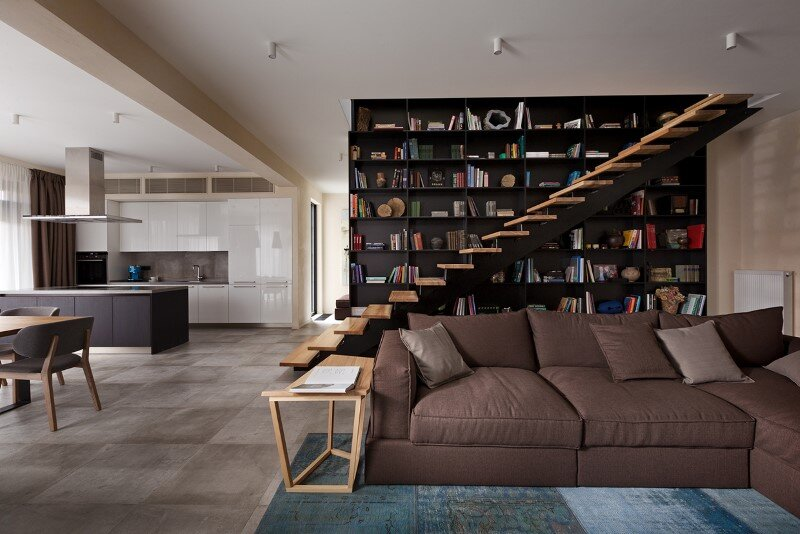 architectural design focused on contrasts of shape and nature buddys house by sergey makhno - Shape In Interior Design
