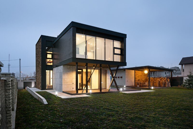 Architectural design focused on contrasts of shape and nature - Buddy's House by Sergey Makhno (8)
